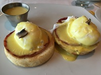 Dairy free, Gluten free eggs benedict at Cagney's