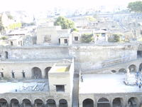 Different view of the re-discovered town of Herculaneum.