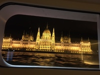Hungarian Parliament Building from our Cabin