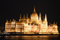 The Parliament Buildings in Budapest taken from the Viking Legend.