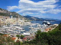 Port of Monte Carlo with Viking Sea in distance