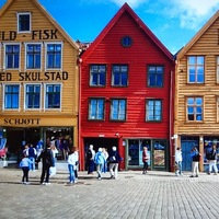 Fantastic city of Bergen Norway where we shopped for sweaters, saw the farm