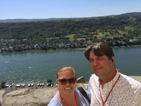 Selfie at Marksburg castle over looking the Rhine river