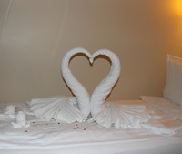 Bed decoration on the evening of our wedding anniversary