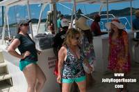 Dancing on the Jolly Roger Catamaran