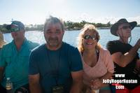 Enjoying some fun in the sun on the Jolly Roger Catamaran