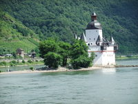Pfalzgrafenstein Castle, a toll station on the Middle Rhine, was built in 1