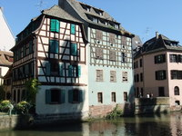 Historic homes in Strasbourg, France