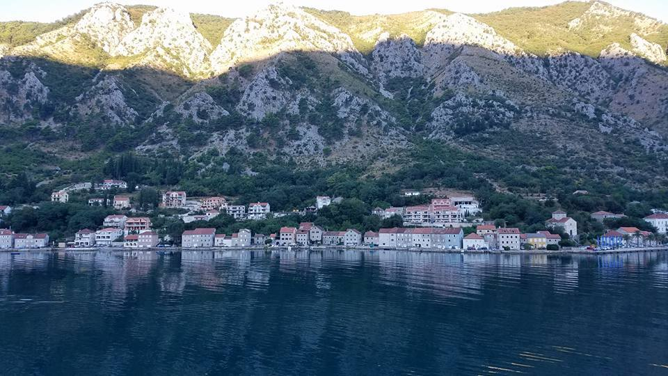 Pulling into port in Montenegro