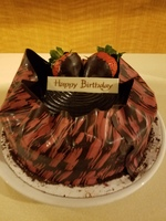 Birthday cake delivered to our room