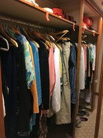 Our closet was roomy and I overpacked like crazy! We hardly used the cupboa