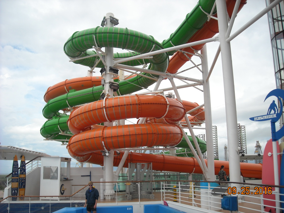 water slide, all enclosed