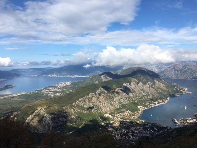 Scenic view of the Harbor of Kotor, Montenegro with the Viking Sea.