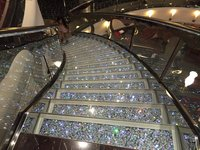 Crystal staircase is breathtaking