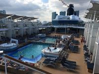 Main Pool area looking aft from Deck 15.