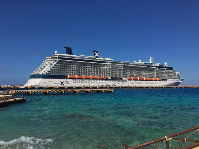 Celebrity Silhouette in Cozumel.