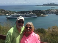 St Lucia..view of our ship