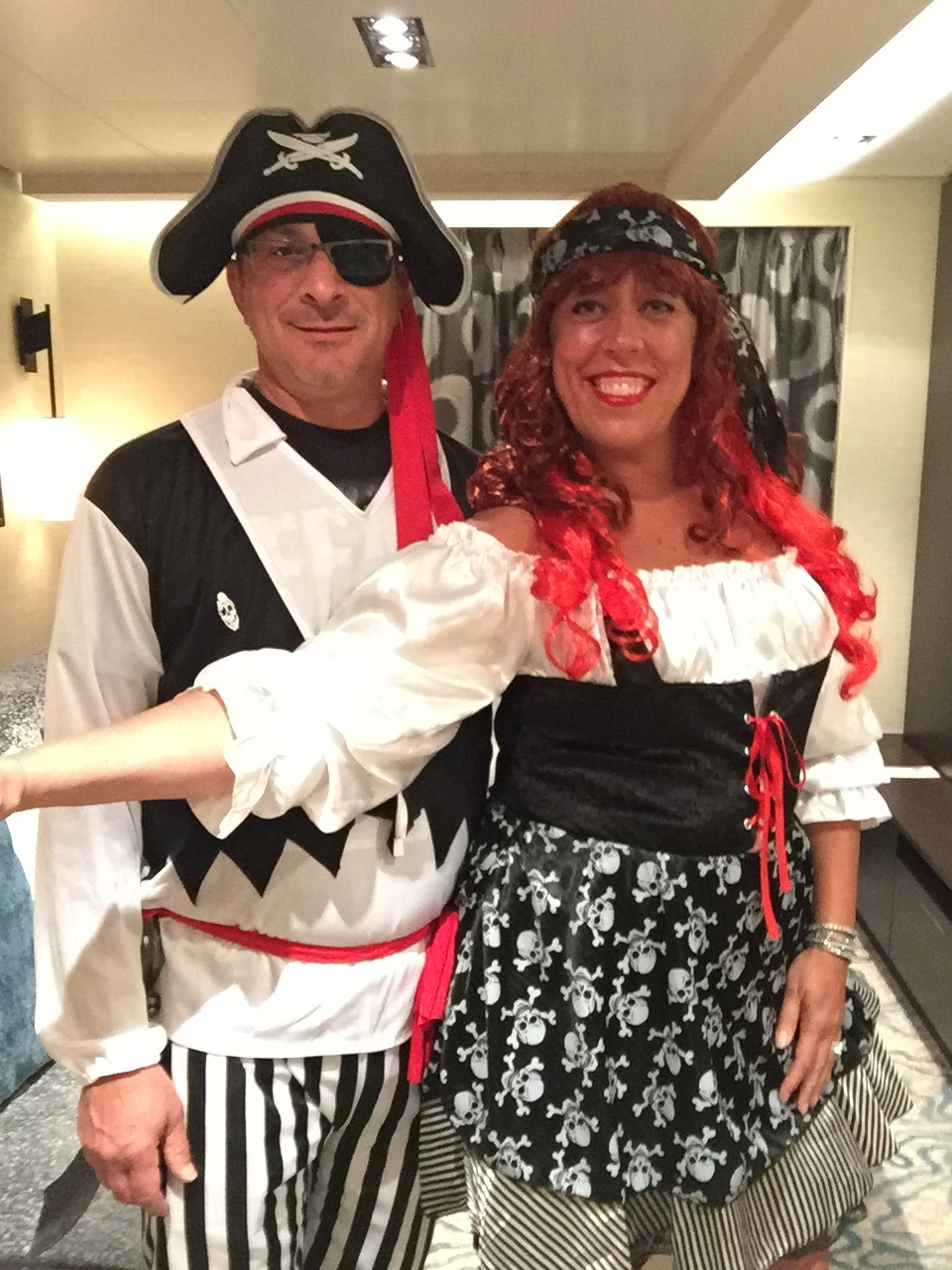 It was Halloween during the cruise, so we brought our costumes, and so did