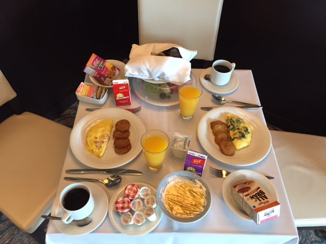 Room service one of the mornings.
