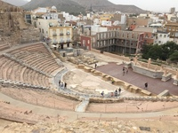 Roman Theater in Cartagena, Spain