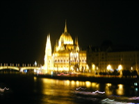 Night scene in Budapest