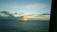 Beautiful sunrise at sea