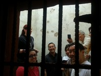Stuck in a Mexican Jail. Free to get in had to bribe someone to get out! ;-