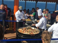 Paella on the deck