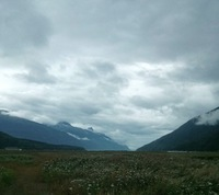 View from Dyea back towards Skagway