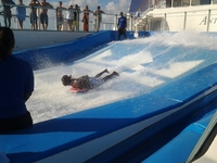 'Flowrider' activity on the ship