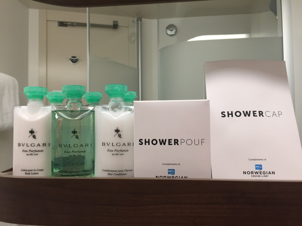 Toiletries in Spa Balcony cabin