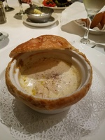 Royal Princess Oct 23 - traditional dining.  Curtis Stone Chicken pot pie.