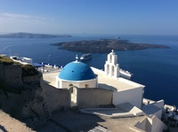 The Reflection viewed from the top of Santorini.