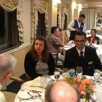 Our Hotel Director and cruise ship management staff having dinner with us.
