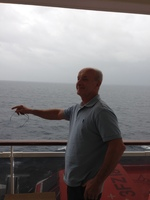 I husband on the deck of the ship and the only good experience on the ship us the deck