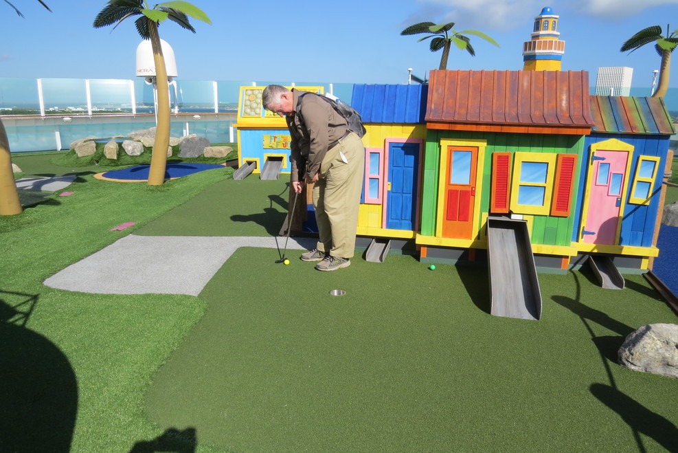 Mini golfing on the LOTS.