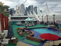 Pool area before sail away BBQ party