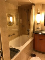 The bath and shower.