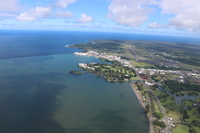 View of the Pride of America from my helicopter tour in Hilo