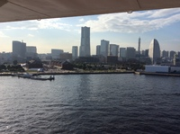 View of Yokohama from our stateroom, on embarkation day.