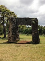 This is the Maka Fa'akinanga (leaning rock) Nuku'Alofa, Tonga.