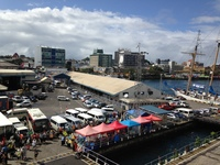 The port of Suva.