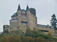 A castle above the Moselle river