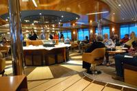 Lounge on the Explorer where we gathered for daily briefings, talks, cockta