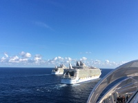 Meeting of the Three Sisters viewed from Harmony of the Seas