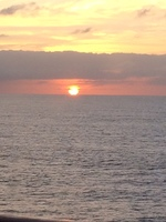 Sun set at sea