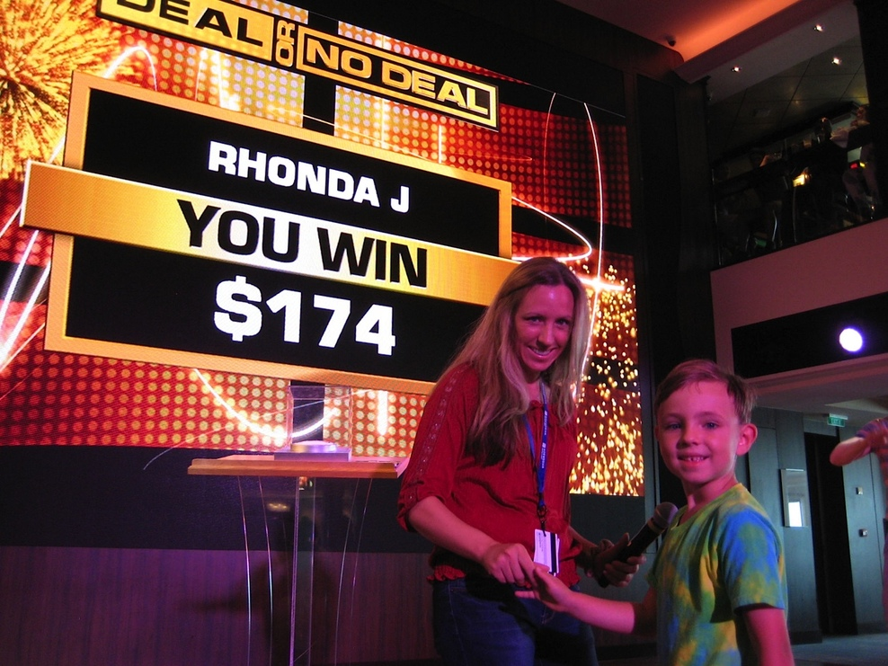 We won $174 at Deal or No Deal