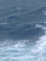 The waves during the typhoon...