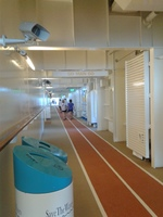 running/jogging track on the Harmony of the Seas