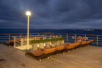 The Oasis Bar, deck 10, at sunset